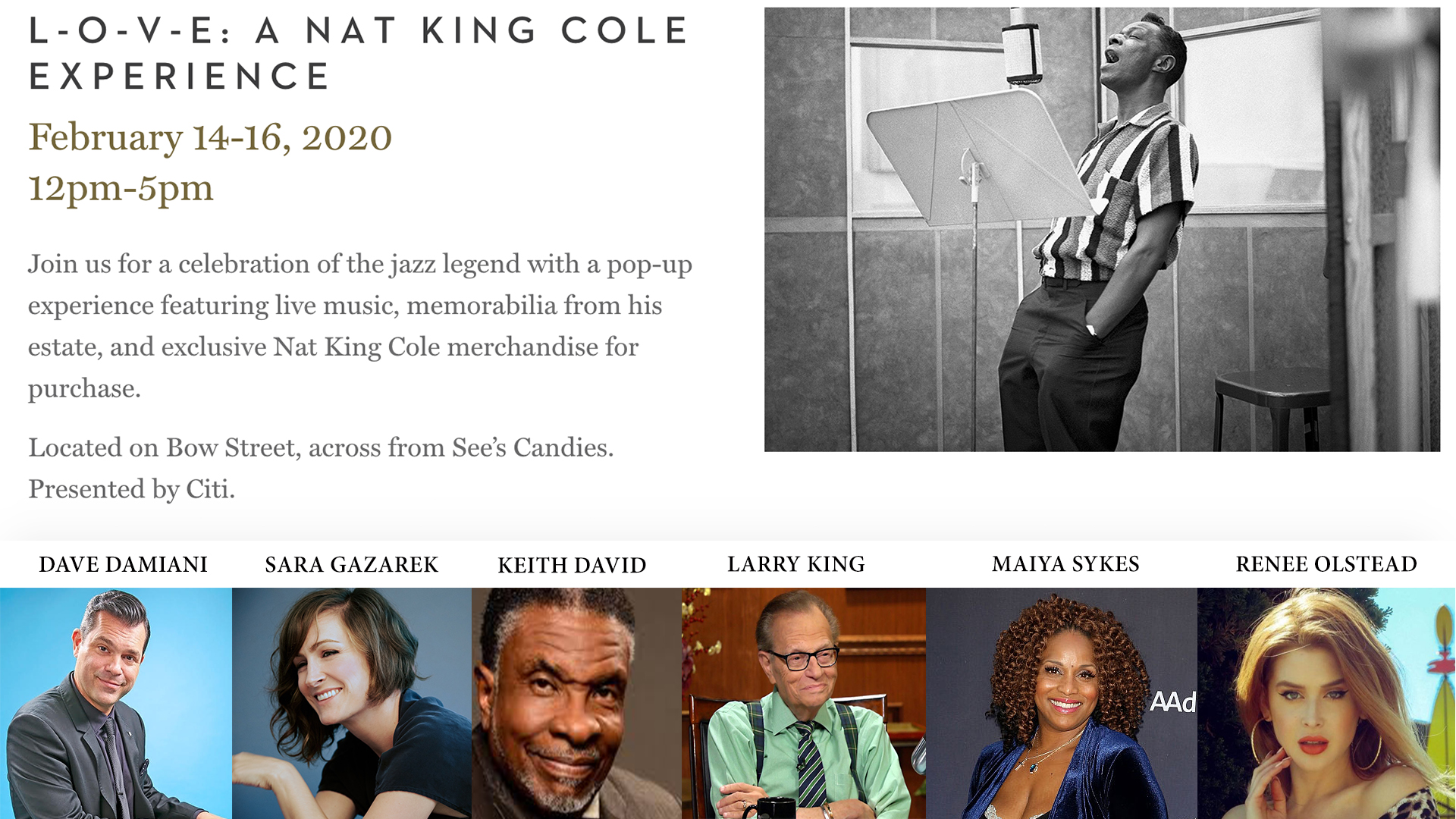 L-O-V-E - A Nat Cole Experience (presented by CITI)