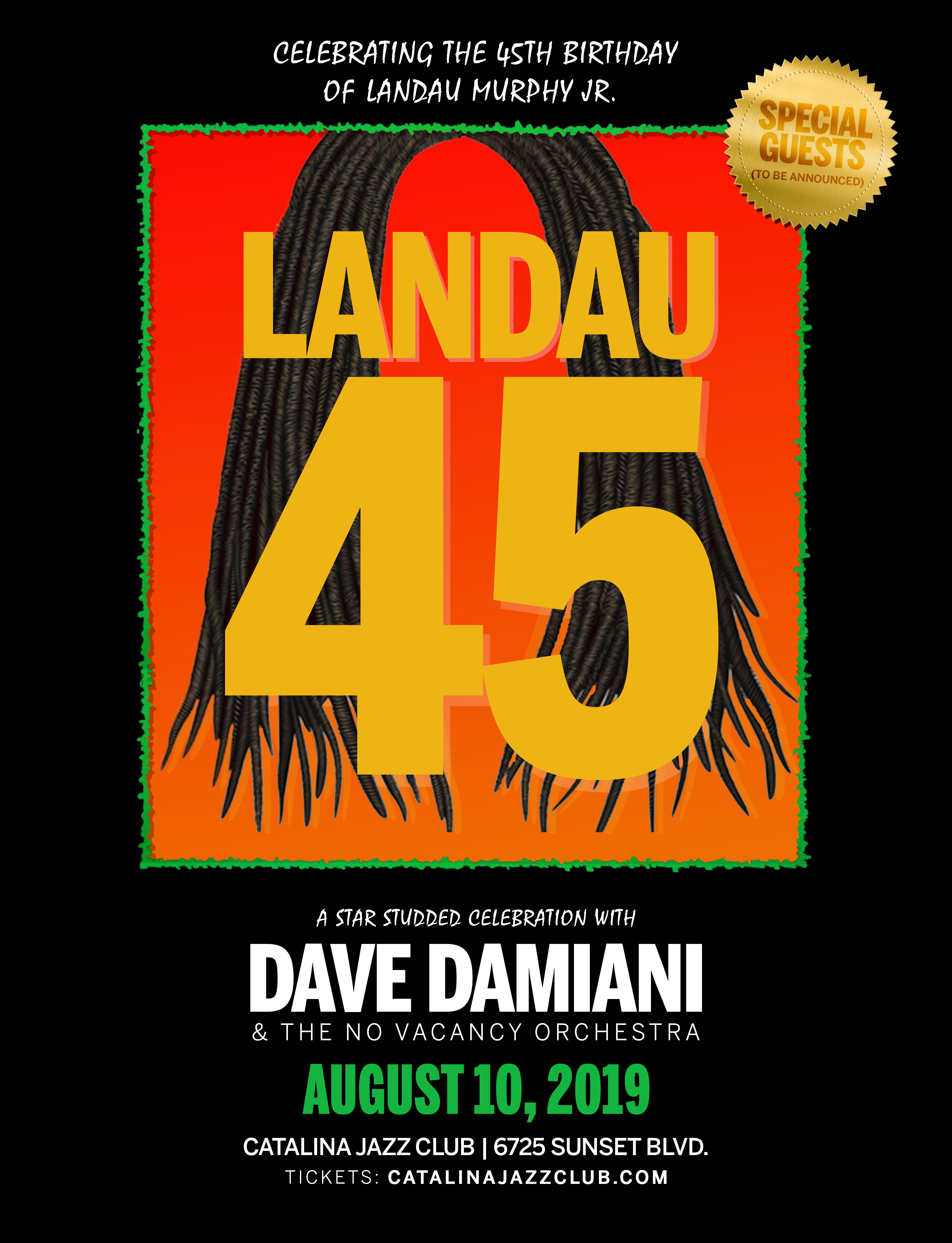 Landau 45 - w/ Dave Damiani & The No Vacancy Orchestra